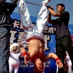 headstand nail chinese man